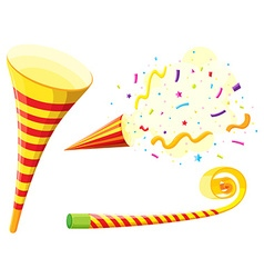 Party horn and blowing instrument vector image vector image