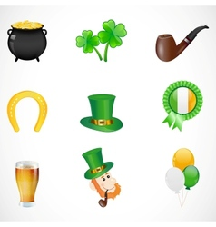 st patricks day icons vector image vector image