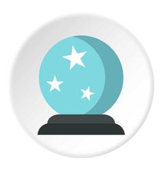 crystal ball icon circle vector image