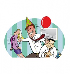 office party vector image vector image