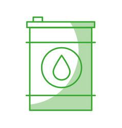 Oil barrel icon vector