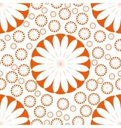 Orange Flower Seamless Pattern vector image vector image