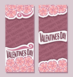 banners for happy valentines day vector image