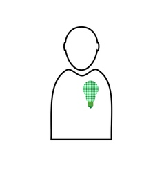 eco bulb in man vector image vector image