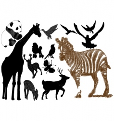 embroidery animal collection vector image vector image