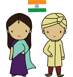 Indian Traditional Dress vector image vector image