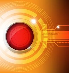 modern button technology concept vector image