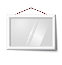 white isolated horizontal photo frame vector image vector image