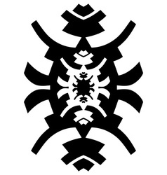 Black and white hipster ornament vector image vector image