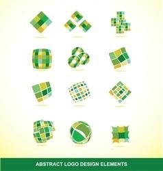 Green logo design elements set vector image