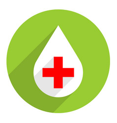 white drop icon first aid sign red cross vector image