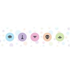 5 fantasy icons vector