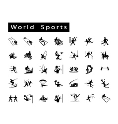 A Set of 35 World Sport Icons vector