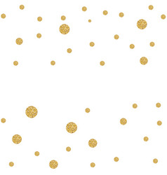 abstract gold glitter background with polka dot vector image