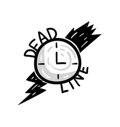 alarm clock and lightning deadline punctuality vector image