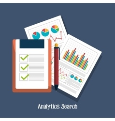 Analitycs search icon vector image