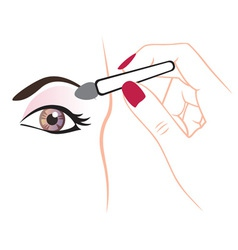 application of shadow on the eyelids vector image