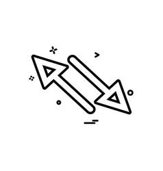 arrow cross two way icon design vector image