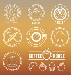 Bakery and pastry emblems vector