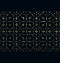 Black geometric background with gold glitter vector