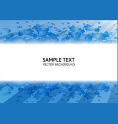 Blue abstract background modern design with copy vector