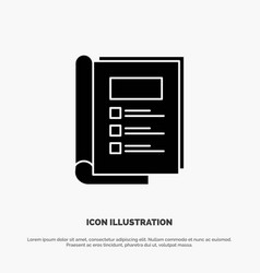 book bundle layout report solid glyph icon vector image