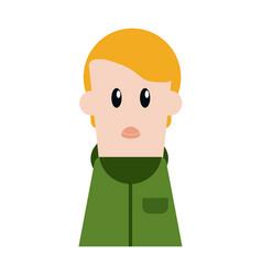 boy cartoon profile vector image