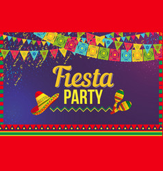 Bright ornamental banner promoting fiesta carnival vector