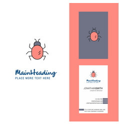 bug creative logo and business card vertical vector image