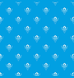 camping pattern seamless blue vector image