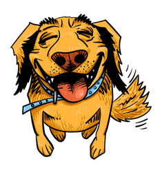 cartoon image of happy dog vector image