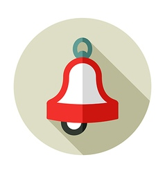 Christmas bell flat icon vector
