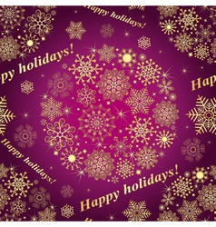 Christmas purple seamless pattern vector image