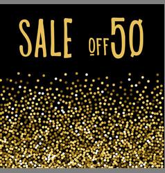 Christmas seasonal sale half the price vector