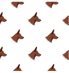 Collie dog pattern seamless vector