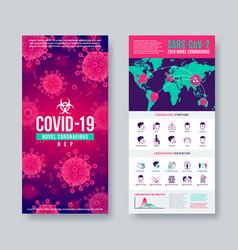 coronavirus banner set with infographic elements vector image