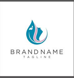creative women beauty salon spa logo icon vector image