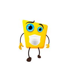 cute yellow monster childish cartoon character vector image