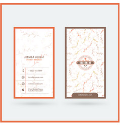double-sided vertical modern business card vector image
