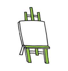 easel cartoon hand drawn style vector image