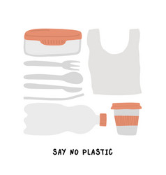 eco life style without plastic vector image