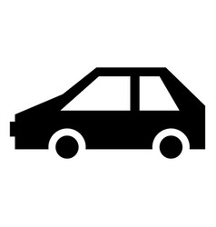 electric car icon simple style vector image