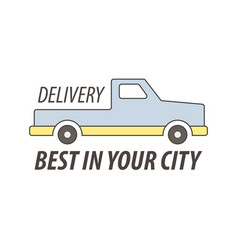 express delivery service logo template vector image
