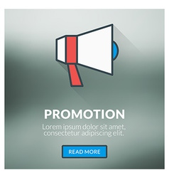 Flat design concept for promotion with blur vector image