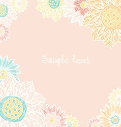 floral card with place for your text cute hand vector image
