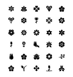 Flowers or Floral Icons 6 vector