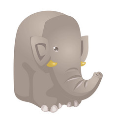 funny cartoon elephant elephant funny character vector image