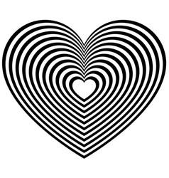 geometric contour heart shape vector image
