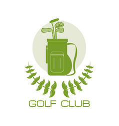 golf club sport vector image