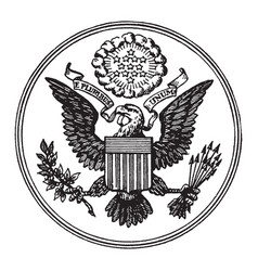 Great seal united states vintage vector